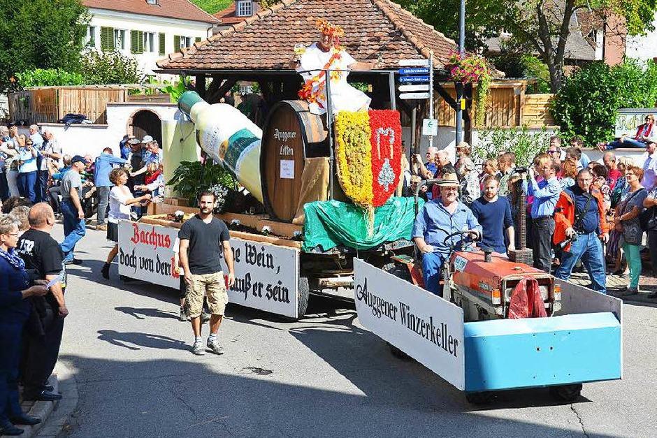 Von der Sonne verwöhnt wurde der große Festumzug zum Auggener Winzerfest (Foto: sigrid umiger)