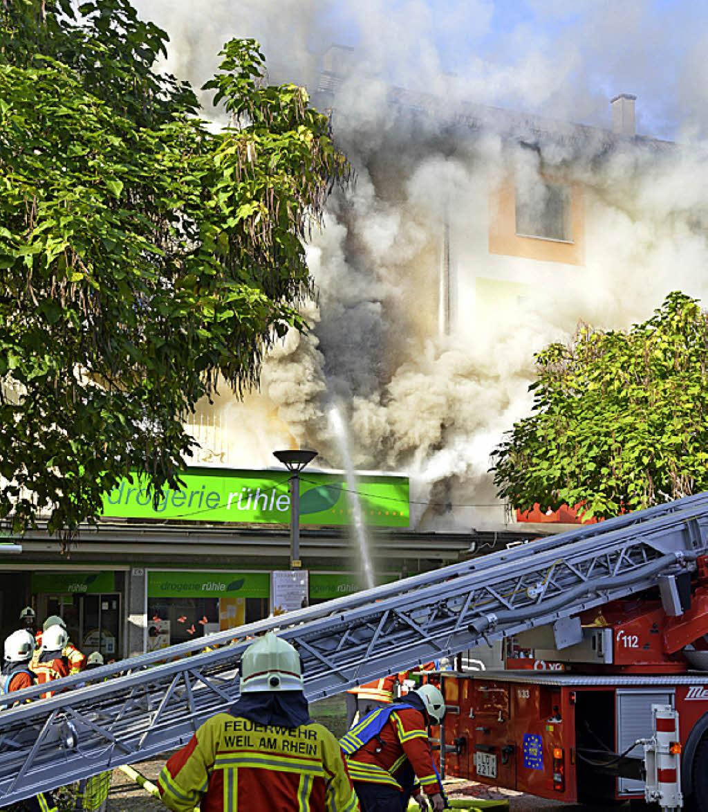 Weil Am Rhein Brand In Der Innenstadt Badische Zeitung De