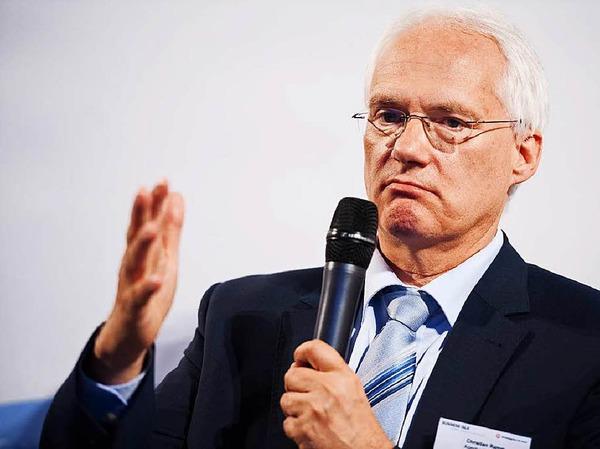 Einer der Diskutanten: Christian Ramm Vorsitzender derGeschäftsführung der Agentur für Arbeit Freiburg.