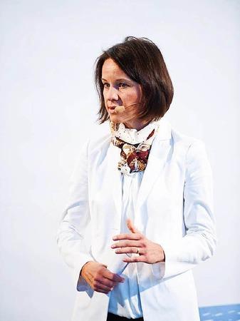 Hielt einen Impulsvortrag: Patricia Neumann, Vizepräsidentin  IBM SystemsHardware Sales-Team der IBM in Deutschland, Österreich und der Schweiz (DACH)
