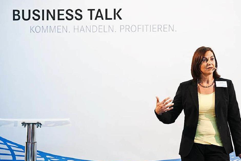 Führte durch das Programm: Katja Klein, Inhaberin und Geschäftsführerin der KTK Projektkommunikation, Jugenheim (Foto: Miroslav Dakov)