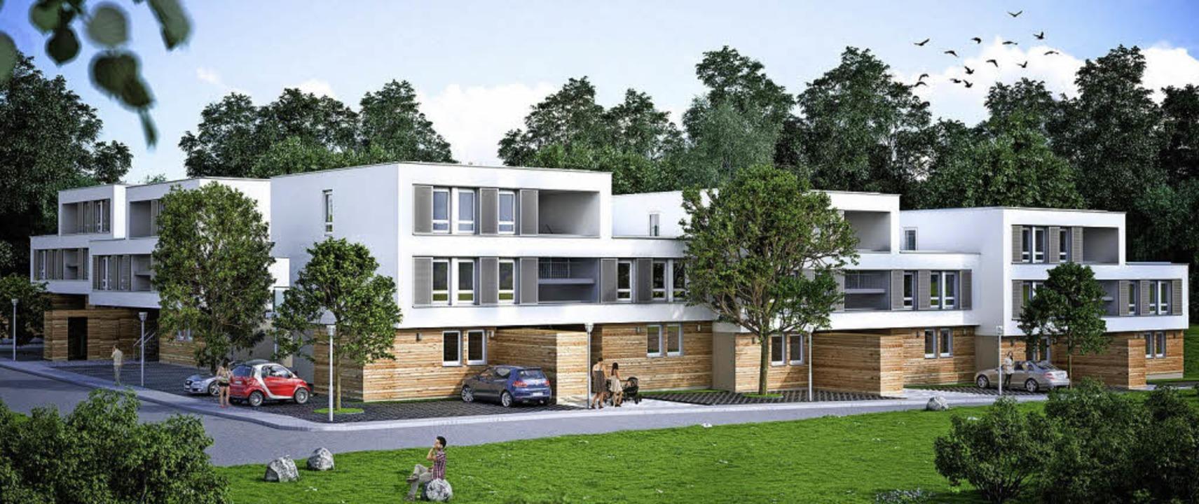 Wiederholbare Module zeichnen die soge...h zu Altbauten   geringe Nebenkosten.   | Foto: Visualisierung: Familienheim Schwarzwald-Baar-Heuberg
