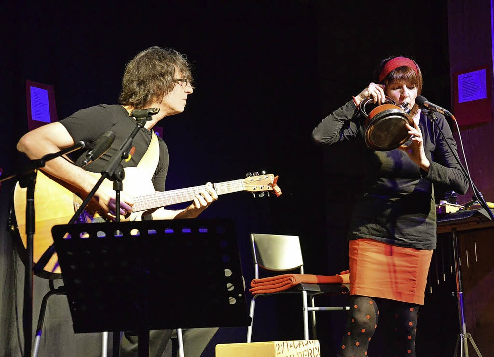 Das Duo Musique in Aspik   | Foto: Alexandra Wehrle