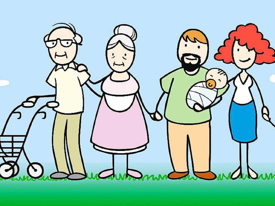 Die perfekte Familie für den Generatio...cherung: Großeltern, Eltern und Kinder  | Foto: Robert Kneschke (fotolia.com)