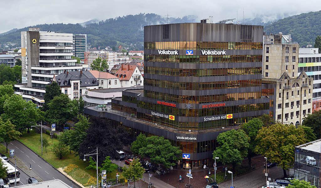 volksbank will zentrale und des benachbarte hotel rheingold abrei en freiburg badische zeitung. Black Bedroom Furniture Sets. Home Design Ideas