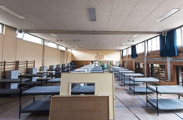 freiburg opfinger tuniberghalle in freiburg wird erstmals eine turnhalle mit fl chtlingen. Black Bedroom Furniture Sets. Home Design Ideas