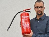 Dieser Mann hat den Brand am Fl�chtlingsheim gel�scht