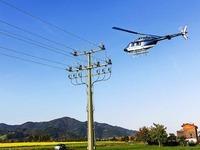 Badenova kontrolliert Stromnetz vom Heli aus