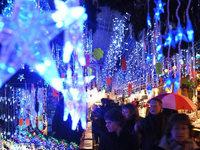 Stra�burger Weihnachtsmarkt wird in Peking aufgebaut