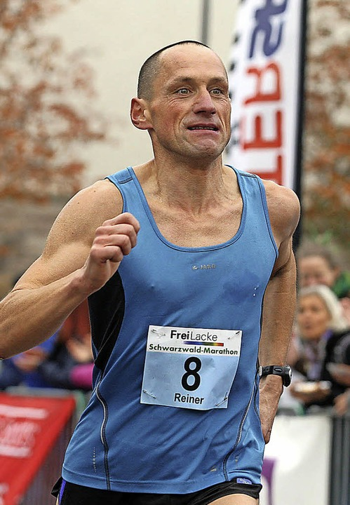 Der Titiseer Rainer (nicht Reiner, wie...ch lief beim Marathon auf Rang zwei.    | Foto: dieter reinhardt