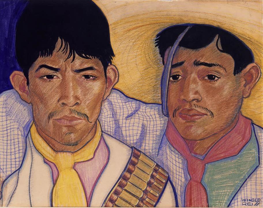 Winold Reiss: Zapatista Soldiers, 1920   | Foto: Veranstalter