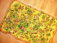 Herbst in der K�che: Pizza mit Steinpilzen
