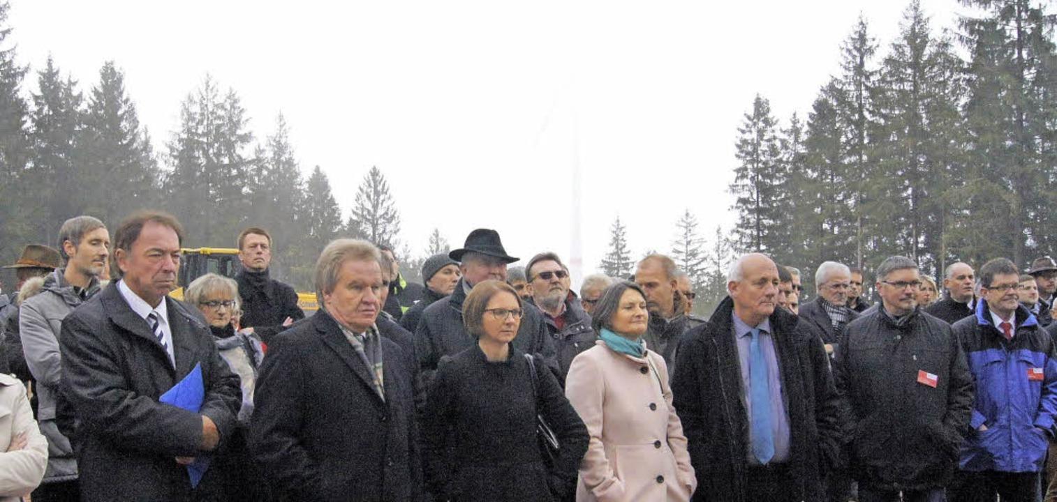 Zur offiziellen Inbetriebnahme war der...otorblätter versteckten sich im Nebel.  | Foto: Roland Gutjahr
