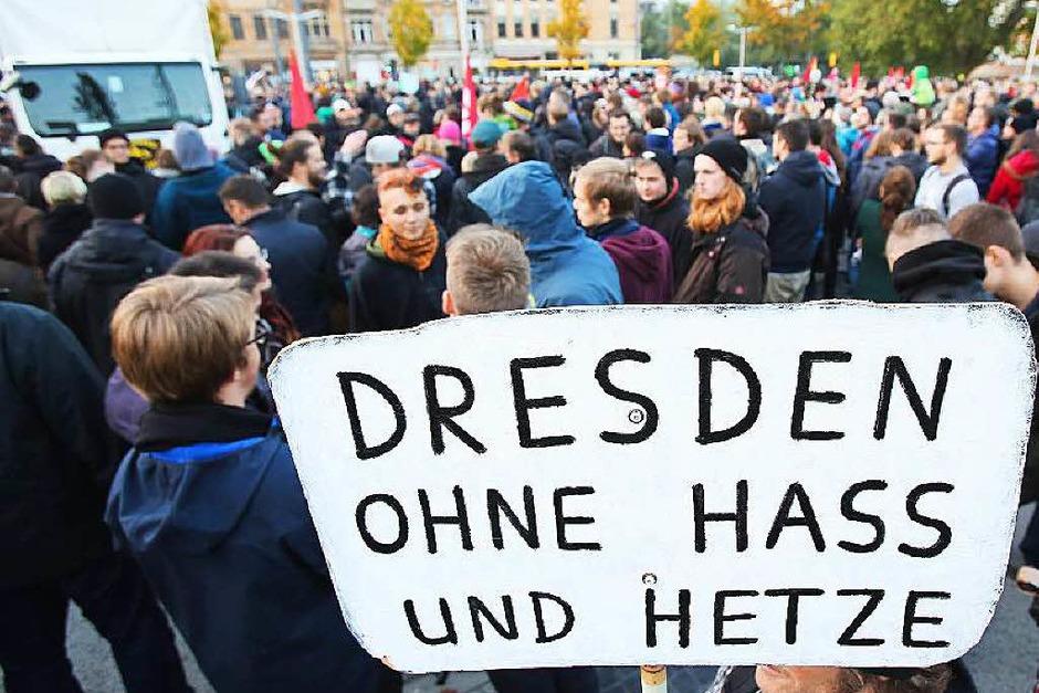 Demonstration gegen Pegida (Foto: dpa)