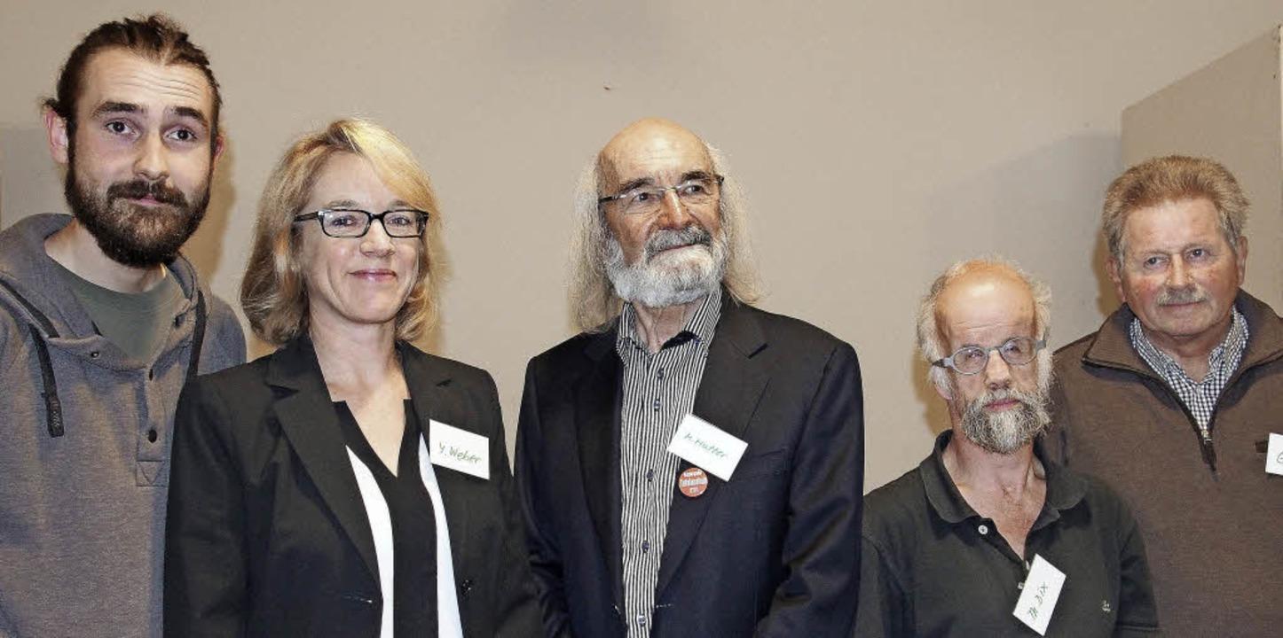 """Der Vorstand des  Vereins """"Bürge...ed Mutter, Thomas Dix und Günter Holl     Foto: Boris Burkhardt"""
