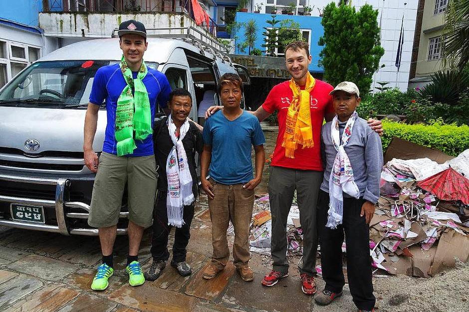 Raphael Holubarsch und Martin Sieferman besteigen den Manaslu im Himalaya (Foto: Privat)