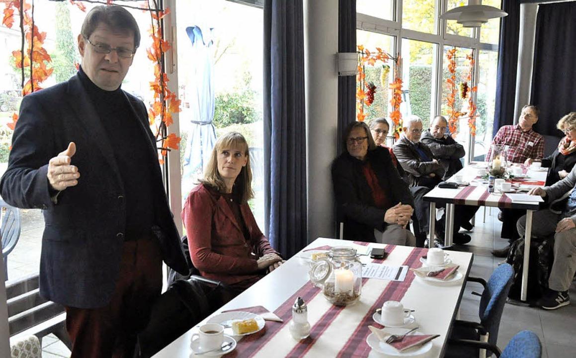 Ralf Stegener und Birte Könnecke in Breisach   | Foto: Julius Steckmeister