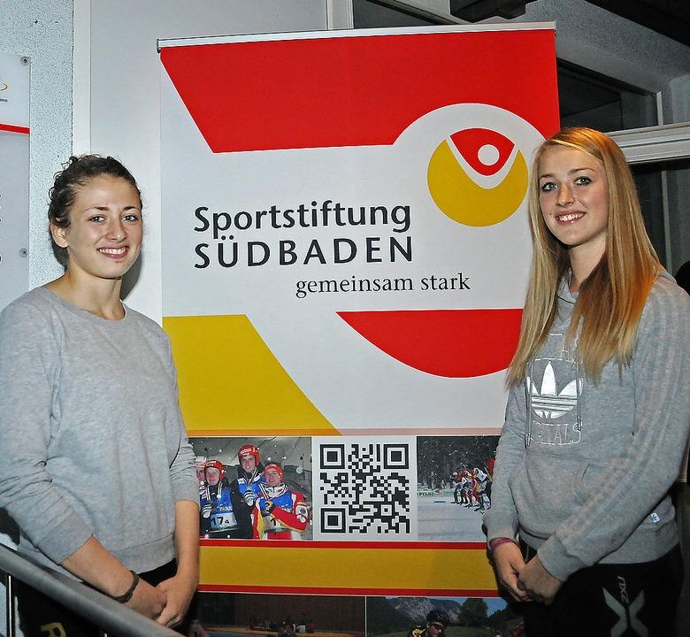 Die Ringerin Elena Brugger  vom TuS Ad...n Empfängerinnen der Stiftungsgelder.   | Foto: sportstiftung südbaden