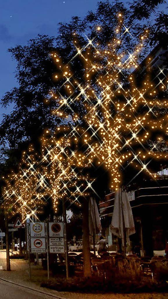 beleuchtung zu weihnachten w chst langsam weil am rhein badische zeitung. Black Bedroom Furniture Sets. Home Design Ideas