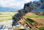 Drohnen-Fotos: Der Brand in Herbolzheim von oben