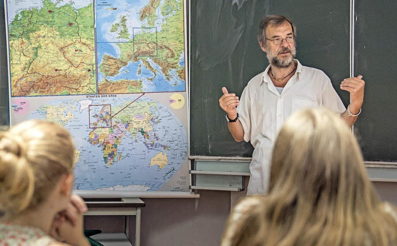 Nicht nur wissen, wo Deutschland in de...l der Geographieunterricht vermitteln.  | Foto: dpa/PHFR