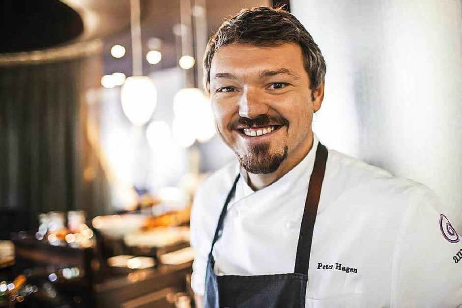 Gerade noch auf der Plaza Culinaria, jetzt wieder im Rampenlicht von Michelin: Zwei-Sterne-Koch Peter Hagen vom Restaurant ammolite in Rust (Foto: Michael Bode info@bode-fotografi)