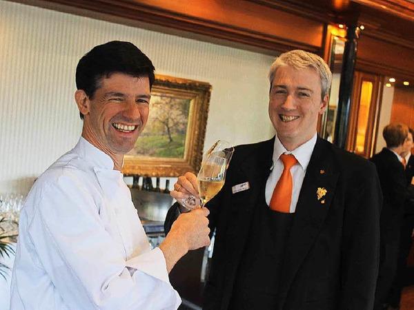 Martin Herrmann (links) kocht mit seinem Team im LePavillon im Hotel Dollenberg in Bad Peterstal-Griesbach weiterhin auf Zwei-Sterne-Niveau