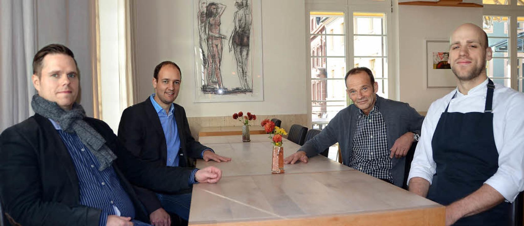 Das neue Küchenteam von Drei König mit...Nicht auf dem Foto ist Andrej Müller.   | Foto: Willi Adam