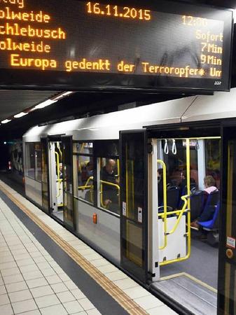 In Köln standen die U-Bahnen für eine Minute still.
