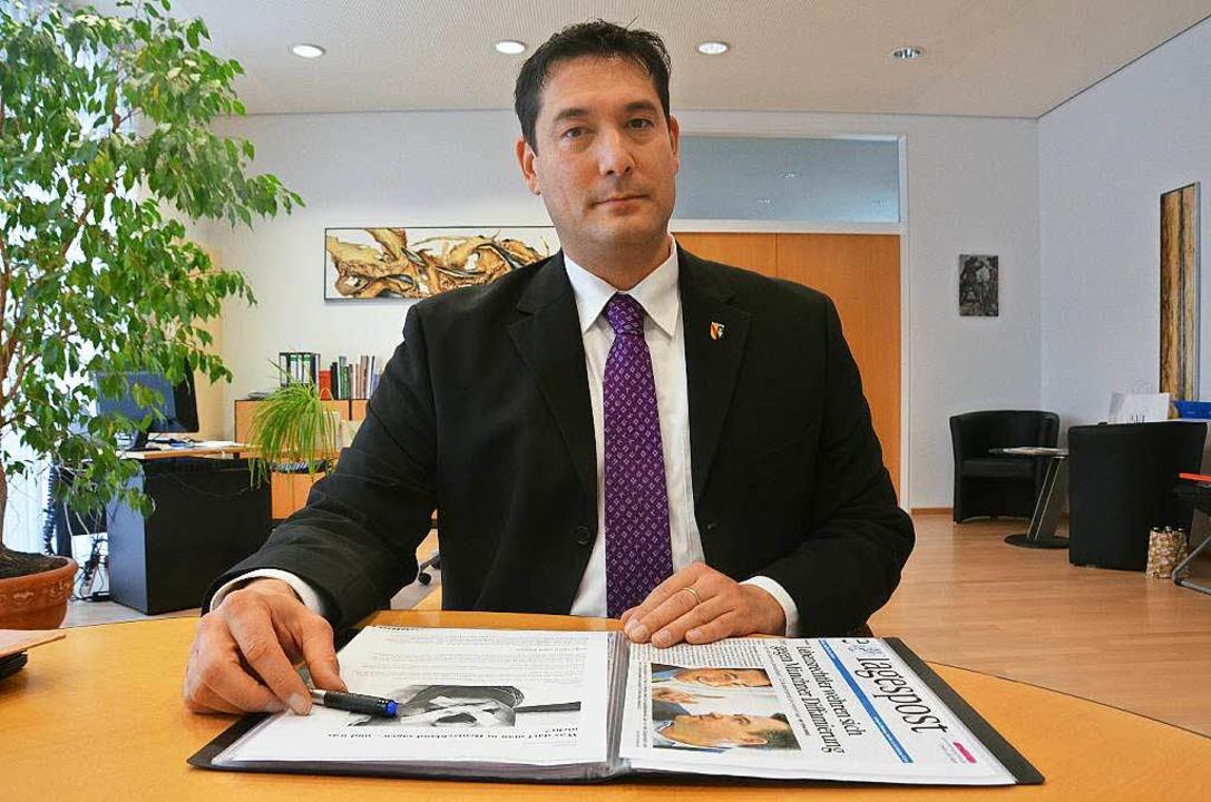 Markus Hollemann sieht sich als Kämpfer für die Meinungsfreiheit.      Foto: Max Schuler