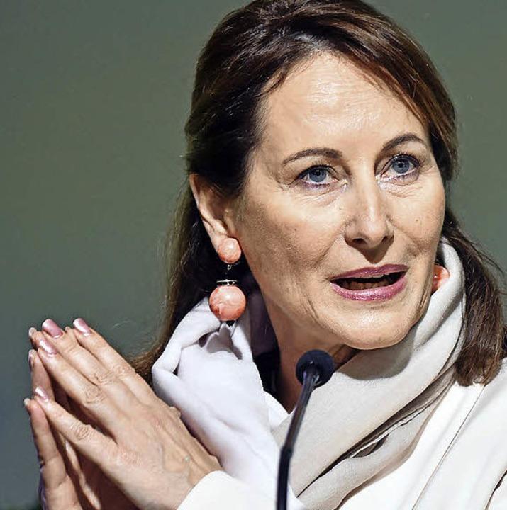 Ségolène Royal spricht auf der Weltklimakonferenz.  | Foto: AFP