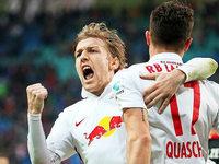 Drei Treffer in f�nf Minuten: Leipzig dreht Spiel gegen Duisburg