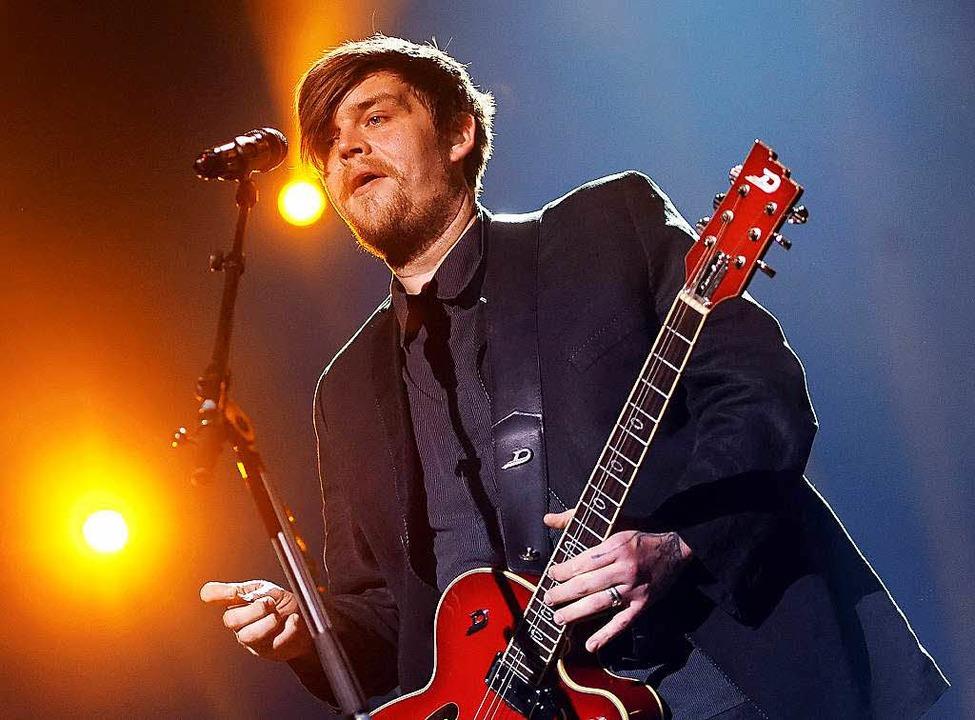 Nicholas Müller, hier noch als  Sänger der Gruppe Jupiter Jones im Jahr 2012.  | Foto: Britta Pedersen
