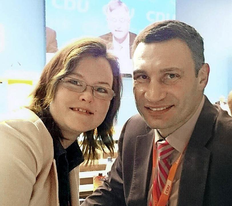 Julia Lindner und Vitali Klitschko   | Foto: privat