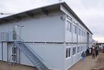 Fotos: Die neue Fl�chtlingsunterkunft an der Gr�nschnittstelle