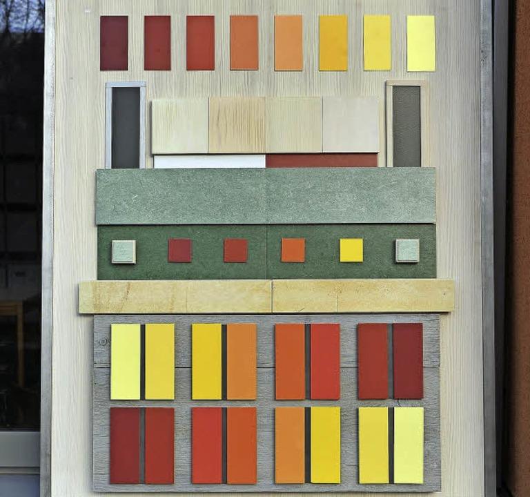 Alles Ton in Ton: die Farbtafel des Architekturbüros    Foto: Thomas Kunz