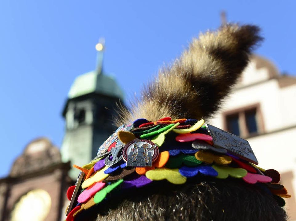 Eine der legendären Katzenschwanzmützen der Fasnetrufer    Foto: Ingo Schneider