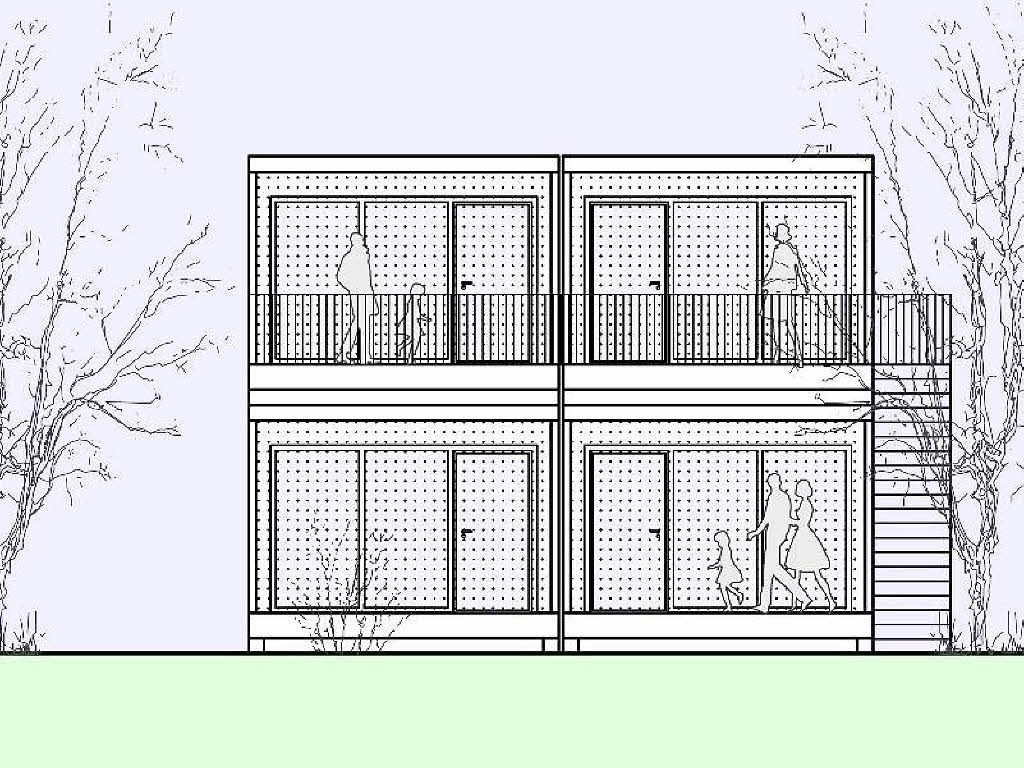 Fl chtlingsunterbringung holzkubus statt wohncontainer for Holzkubus haus