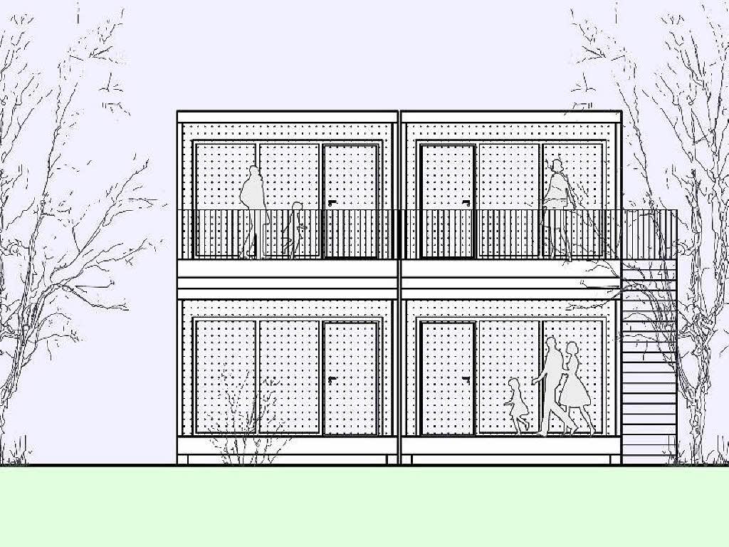 Fl chtlingsunterbringung holzkubus statt wohncontainer for Smart haus wohncontainer