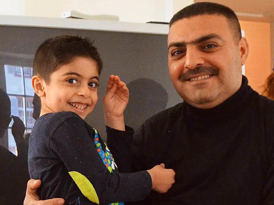 Ehab Noori Kassim und Sohn Sinan  | Foto: Ingrid Böhm-Jacob