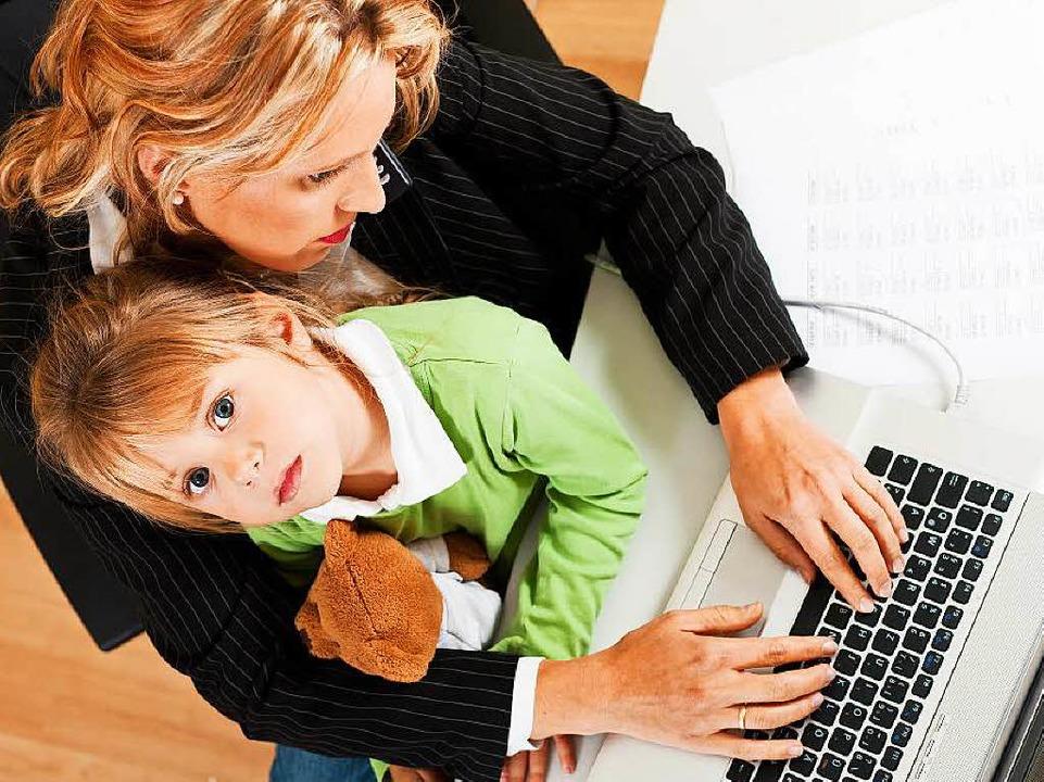 Familie und Beruf – das ist anst...r oft  zufrieden, sagt die Forschung.   | Foto: Kzenon (Fotolia.com)