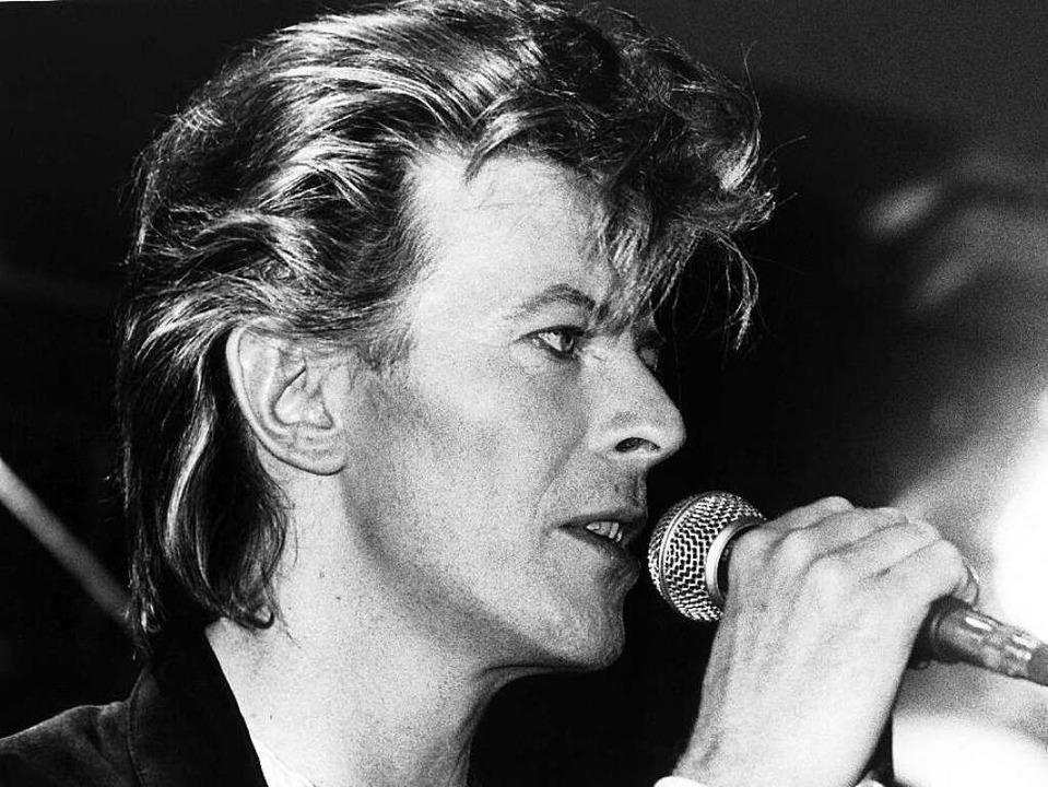 David Bowie 1987 bei einer Pressekonferenz in München  | Foto: AFP