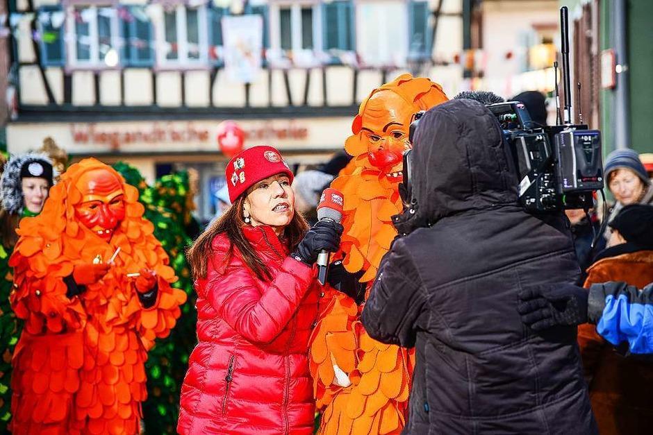Anina Wenderoth im Dauereinsatz mit Interviews auf der Straße. (Foto: Olaf Michel (Bilder-Michel.de))