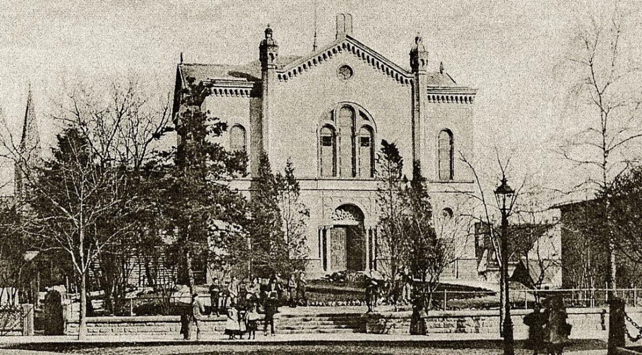 Die Alte Synagoge aus dem 19. Jahrhund...Platz vor dem Stadttheater den Namen.   | Foto: Archiv