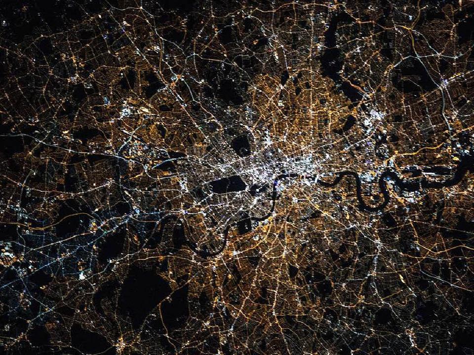 Der Mensch prägt die Erde – opti...e das Bild von London zeigt<ppp></ppp>  | Foto: Kjell Lindgren / Nasa