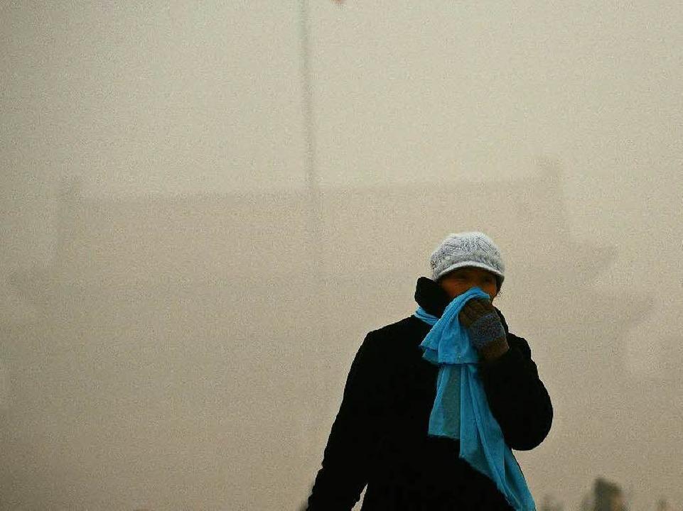 <ppp>a</ppp>ber auch durch die Materialien, die er freisetzt – etwa Ruß.  | Foto: AFP