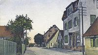 Die Sundgauallee hie� einst Lehener Stra�e - und war eine beschauliche Dorfstra�e