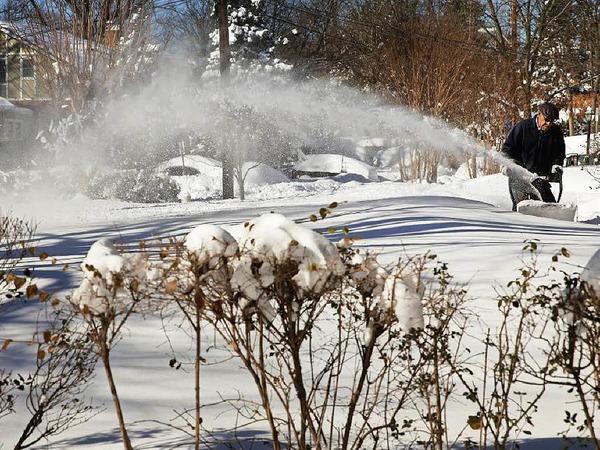 Schneemassen in New York und Washington. Die einen freute es, die anderen nervte es.