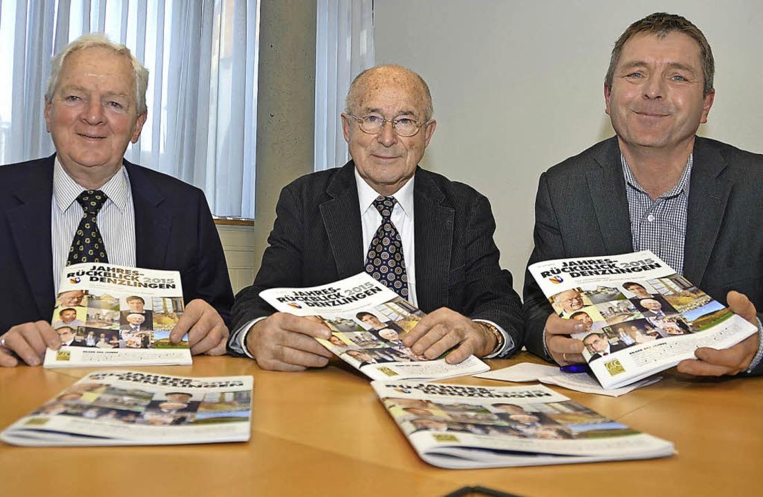 Sie sind die Männer hinter dem neuen D...erger und Helmut Kunkler (von links).   | Foto: Max Schuler