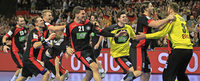 Handballer st�rmen ins EM-Halbfinale